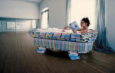 Baignoire livres